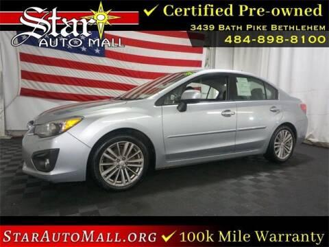 2012 Subaru Impreza for sale at STAR AUTO MALL 512 in Bethlehem PA