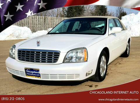 2004 Cadillac DeVille for sale at Chicagoland Internet Auto - 410 N Vine St New Lenox IL, 60451 in New Lenox IL