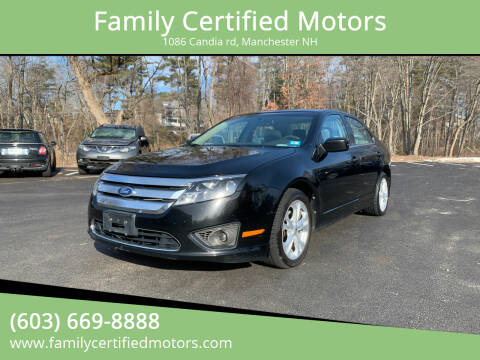 2012 Ford Fusion for sale at Family Certified Motors in Manchester NH