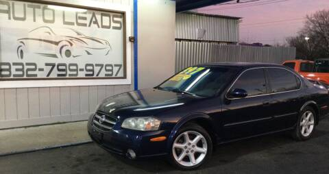 2003 Nissan Maxima for sale at AUTO LEADS in Pasadena TX