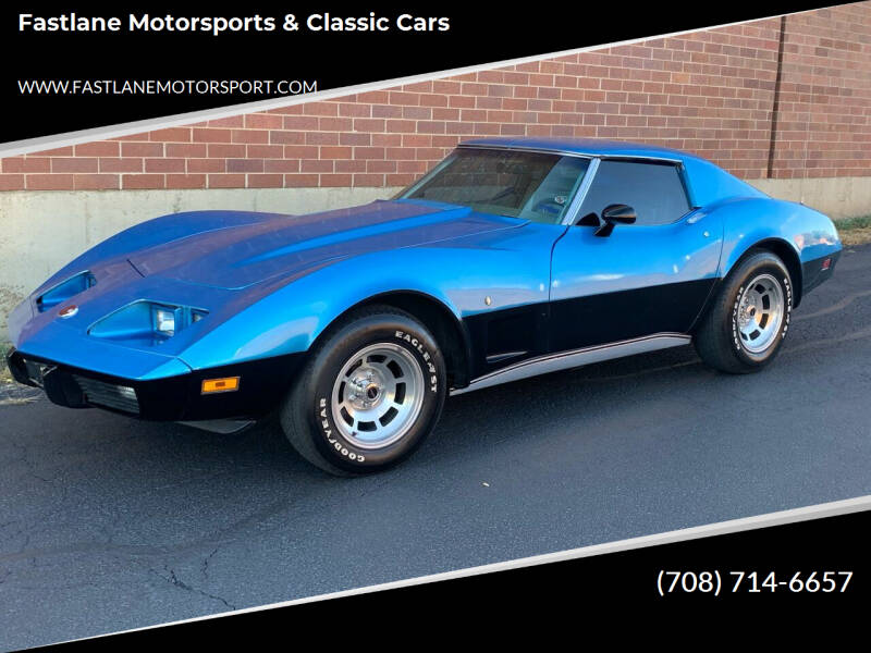1975 Chevrolet Corvette for sale at Fastlane Motorsports & Classic Cars in Addison IL