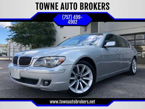 2007 BMW 7 Series for sale at TOWNE AUTO BROKERS in Virginia Beach VA