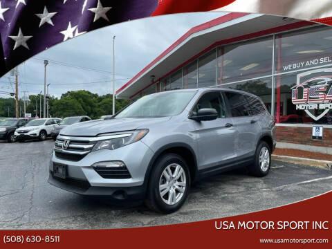 2018 Honda Pilot for sale at USA Motor Sport inc in Marlborough MA