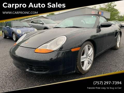 1999 Porsche Boxster for sale at Carpro Auto Sales in Chesapeake VA