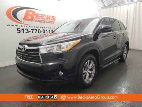 2014 Toyota Highlander for sale at Becks Auto Group in Mason OH