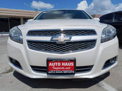 2013 Chevrolet Malibu for sale at Auto Haus Imports in Grand Prairie TX