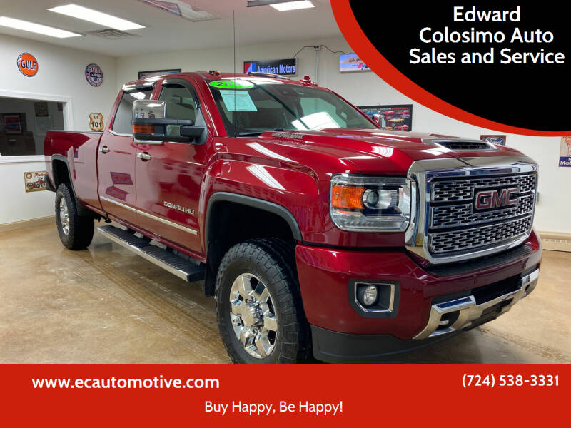 2018 GMC Sierra 3500HD for sale at Edward Colosimo Auto Sales and Service in Evans City PA