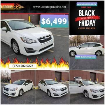 2016 Subaru Impreza for sale at U.S. Auto Group in Chicago IL