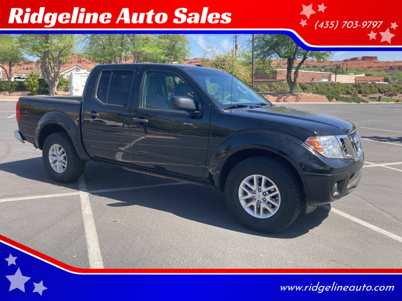 2016 Nissan Frontier for sale at Ridgeline Auto Sales in Saint George UT