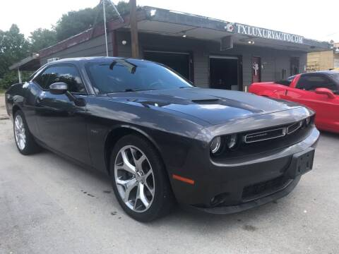 2015 Dodge Challenger for sale at Texas Luxury Auto in Houston TX
