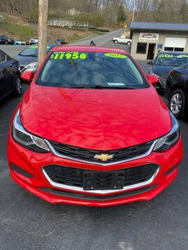 2017 Chevrolet Cruze for sale at Route 28 Auto Sales in Ridgeley WV