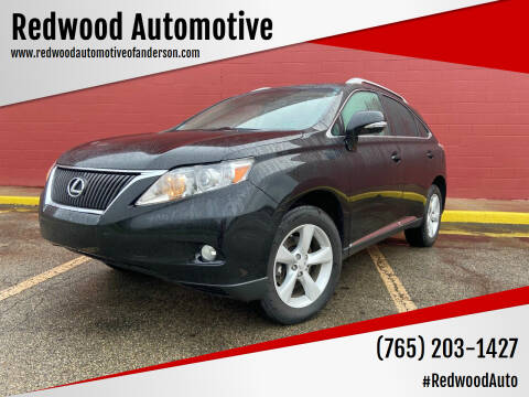 2012 Lexus RX 350 for sale at Redwood Automotive in Anderson IN