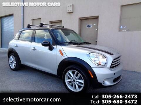 2012 MINI Cooper Countryman for sale at Selective Motor Cars in Miami FL