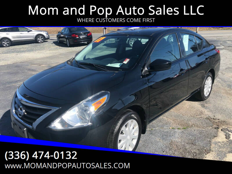 2017 Nissan Versa for sale at Mom and Pop Auto Sales LLC in Thomasville NC