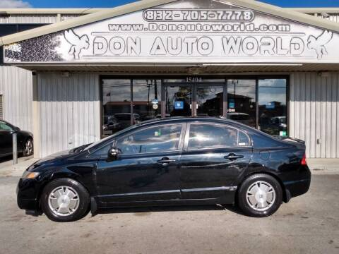 2010 Honda Civic for sale at Don Auto World in Houston TX