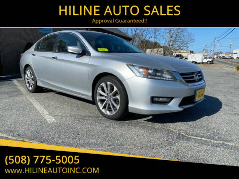 2014 Honda Accord for sale at HILINE AUTO SALES in Hyannis MA