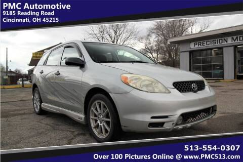 2003 Toyota Matrix for sale at PMC Automotive in Cincinnati OH