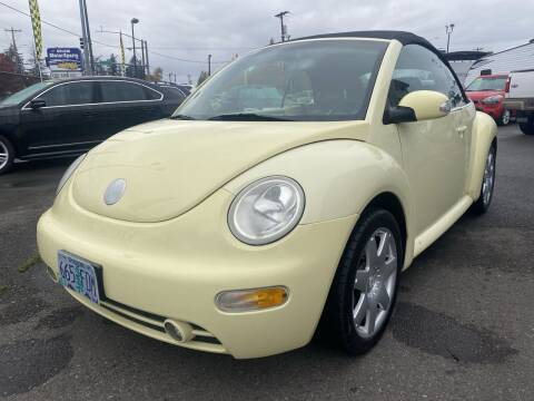 2003 Volkswagen New Beetle Convertible for sale at Salem Motorsports in Salem OR
