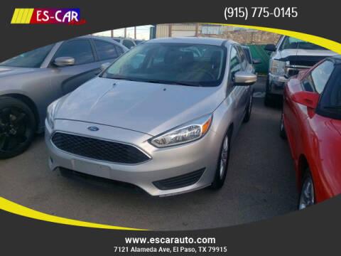 2015 Ford Focus for sale at Escar Auto in El Paso TX
