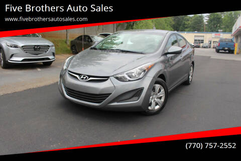 2016 Hyundai Elantra for sale at Five Brothers Auto Sales in Roswell GA
