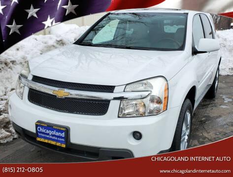 2009 Chevrolet Equinox for sale at Chicagoland Internet Auto - 410 N Vine St New Lenox IL, 60451 in New Lenox IL
