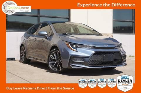 2020 Toyota Corolla for sale at Dallas Auto Finance in Dallas TX