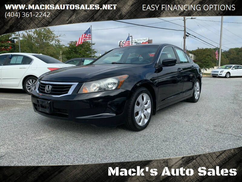 2009 Honda Accord for sale at Mack's Auto Sales in Forest Park GA