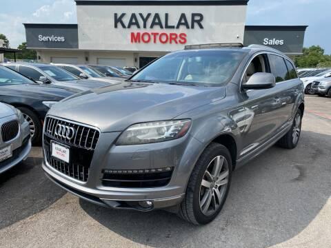 2012 Audi Q7 for sale at KAYALAR MOTORS in Houston TX