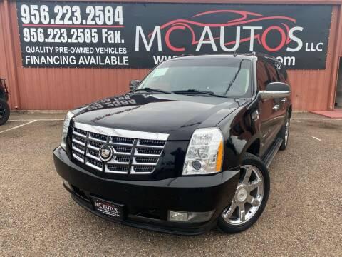 2011 Cadillac Escalade ESV for sale at MC Autos LLC in Pharr TX