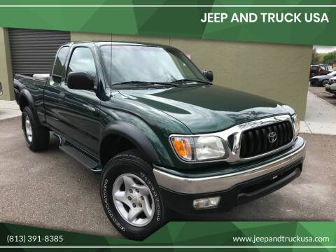 2001 Toyota Tacoma for sale at Jeep and Truck USA in Tampa FL