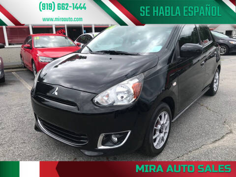 2014 Mitsubishi Mirage for sale at Mira Auto Sales in Raleigh NC