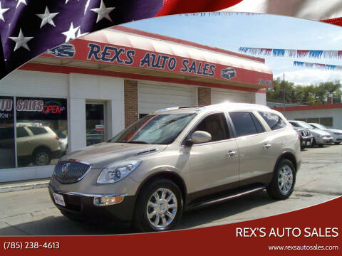 2012 Buick Enclave for sale at Rex's Auto Sales in Junction City KS