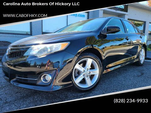 2012 Toyota Camry for sale at Carolina Auto Brokers of Hickory LLC in Newton NC