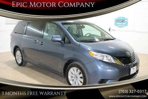 2013 Toyota Sienna for sale at Epic Motor Company in Chantilly VA