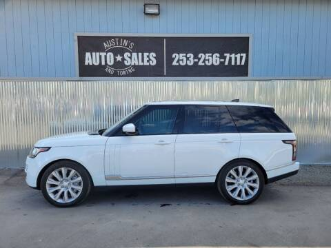 2017 Land Rover Range Rover for sale at Austin's Auto Sales in Edgewood WA