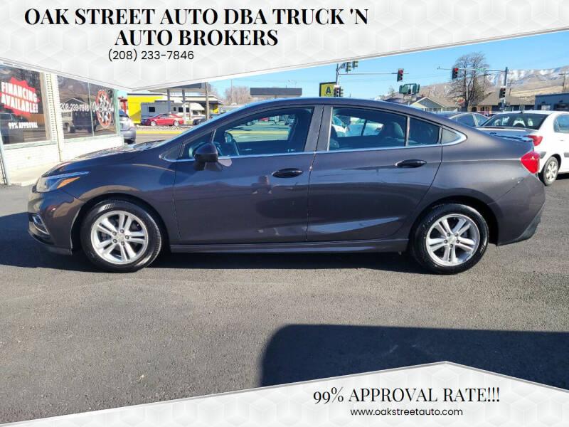 2016 Chevrolet Cruze for sale at Oak Street Auto DBA Truck 'N Auto Brokers in Pocatello ID