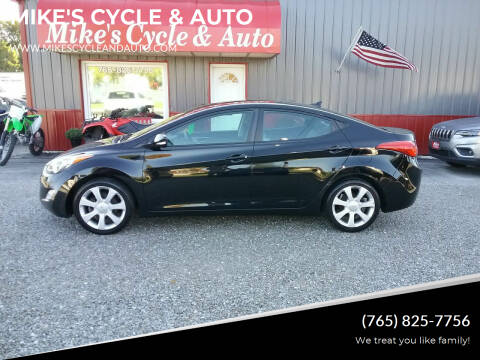 2013 Hyundai Elantra for sale at MIKE'S CYCLE & AUTO in Connersville IN