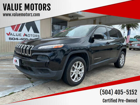 2014 Jeep Cherokee for sale at VALUE MOTORS in Kenner LA