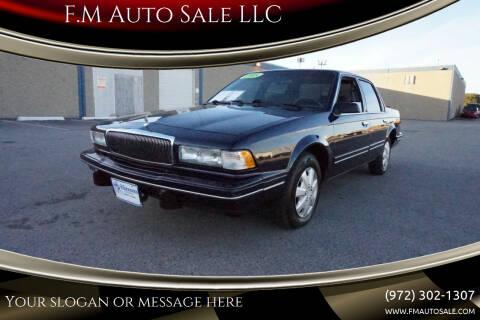 1995 Buick Century for sale at F.M Auto Sale LLC in Dallas TX