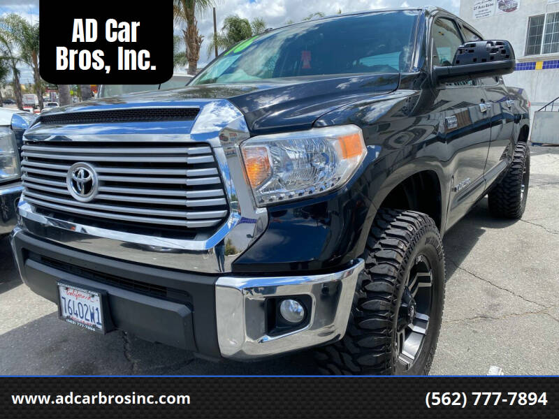 2016 Toyota Tundra for sale at AD Car Bros, Inc. in Whittier CA