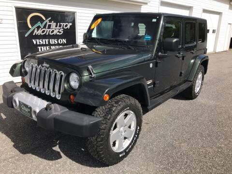 2010 Jeep Wrangler Unlimited for sale at HILLTOP MOTORS INC in Caribou ME