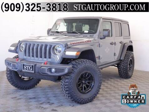 2019 Jeep Wrangler Unlimited for sale at STG Auto Group in Montclair CA