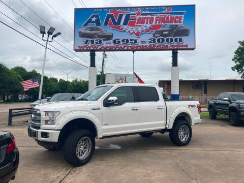 2017 Ford F-150 for sale at ANF AUTO FINANCE in Houston TX