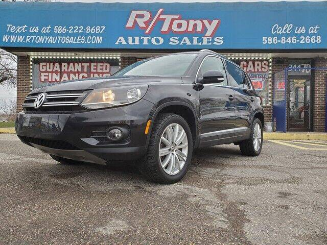 2013 Volkswagen Tiguan for sale at R Tony Auto Sales in Clinton Township MI