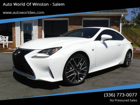 2015 Lexus RC 350 for sale at Auto World Of Winston - Salem in Winston Salem NC