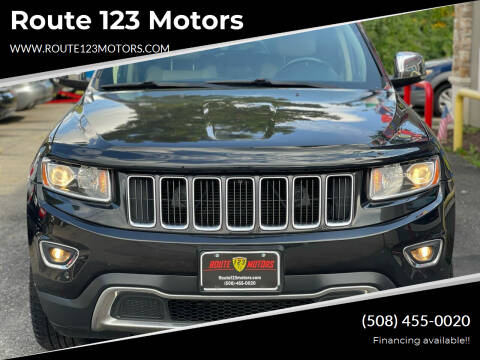 2014 Jeep Grand Cherokee for sale at Route 123 Motors in Norton MA