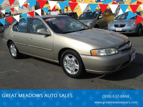 2000 Nissan Altima for sale at GREAT MEADOWS AUTO SALES in Great Meadows NJ