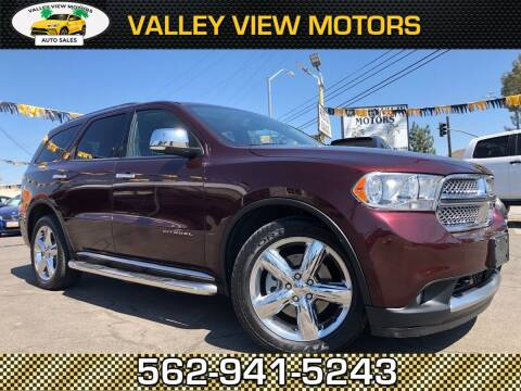 2012 Dodge Durango for sale at Valley View Motors in Whittier CA