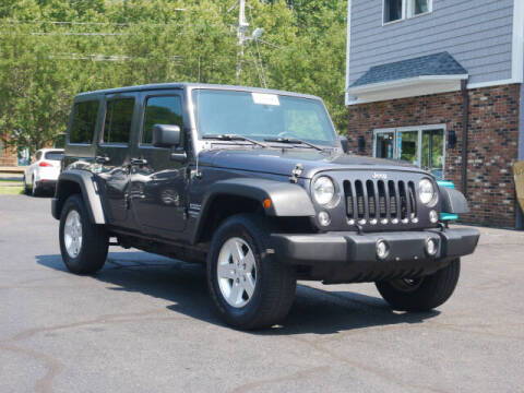 2016 Jeep Wrangler Unlimited for sale at Canton Auto Exchange in Canton CT