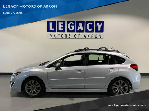 2016 Subaru Impreza for sale at LEGACY MOTORS OF AKRON in Akron OH